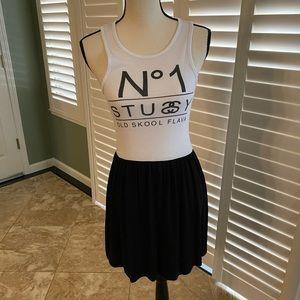 Stussy Dress. Tank Top With Flowy Bottom.